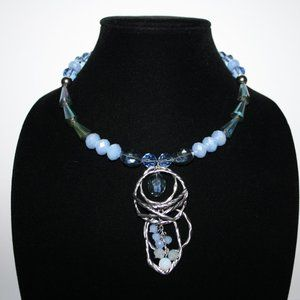 Stunning silver and blue Erica Lyons Necklace
